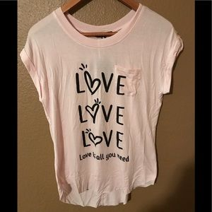 Love peace and lazy days,soft, t shirt,med,love